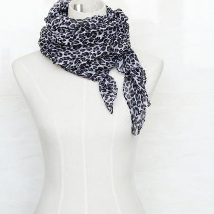 sheer cotton leopard print scarf sh..